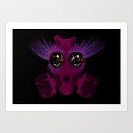Gas Mask Sparkle Art Print