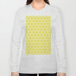 Summery Happy Yellow Honeycomb Pattern - MIX & MATCH Long Sleeve T-shirt