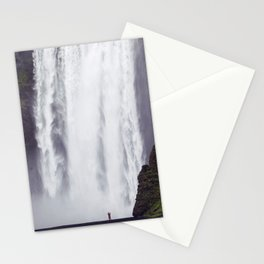 Man Vs. Nature - Skógafoss, Iceland Stationery Cards