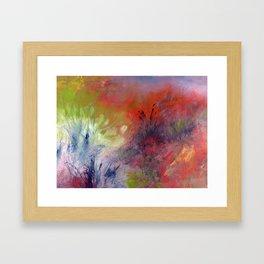 Parmi les herbes Framed Art Print