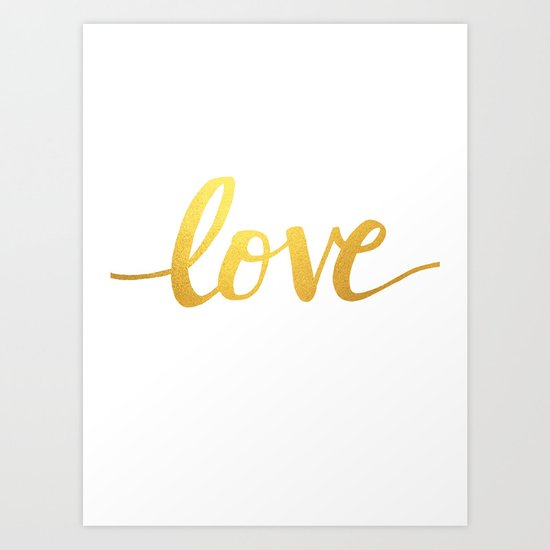 Love Gold Art Print