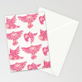 Owls in Flight – Pink Palette Stationery Cards
