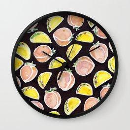 Peach & Taco Wall Clock