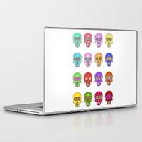 sugar skulls Laptop & iPad Skins featuring Sugar Skulls by Andrew O'Rourke