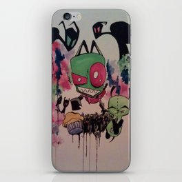 Super Zim and Sidekick Gir iPhone Skin
