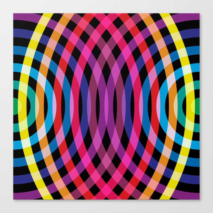 Ripple pattern Canvas Print