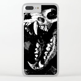 Dire Wolf 2 Clear iPhone Case
