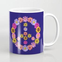 Flower Peace Sign Coffee Mug
