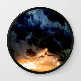 indigo sunset Wall Clock