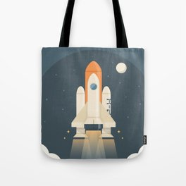 Spaceship Launch Tote Bag