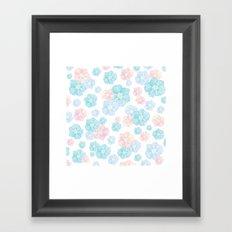 Blossoms Pastel  Framed Art Print