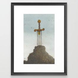 The Sword in the Stone Framed Art Print