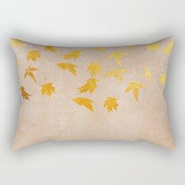 Gold leaves on grunge background - Autumn Sparkle Glitter design Rectangular Pillow