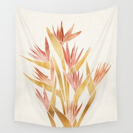 Deco Flowers ~ Metallic Birds of Paradise Wall Tapestry