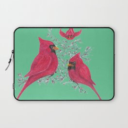 Three Cardinals And Berries Laptop Sleeve
