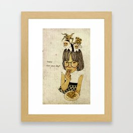 Happy April 1 st! Framed Art Print