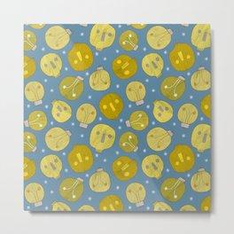Pattern Project #47 / Skulls & Bulbs Metal Print