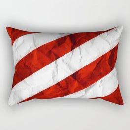 Crumbled Red Stripes Rectangular Pillow