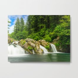 Wallpaper USA White River Falls State Park Nature Waterfalls Parks Forests park forest Metal Print