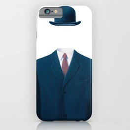 Man In a Bowler Hat by Rene Magritte, Artwork For Prints, Posters, Tshirts, Bags, Men Women, Kids iPhone Case