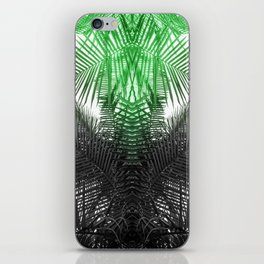 green and gray fern iPhone Skin