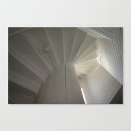 Inside the Lighthouse Stairwell Canvas Print