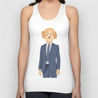 poodle Tank Tops featuring Posing Poodle by drawgood