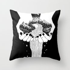 the world in my hand Throw Pillow