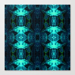 Psychedelic Kaleidoscope Leaf Pattern Canvas Print