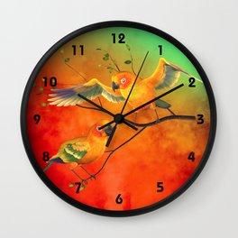Parrots Sun Conures Wall Clock