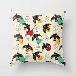Mexican birds Throw Pillow