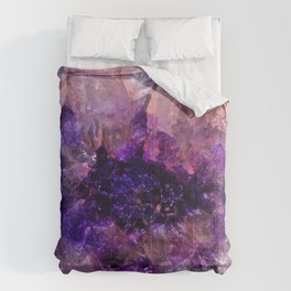 """""""Purple and Violet Agate Crystal"""" Comforters"""