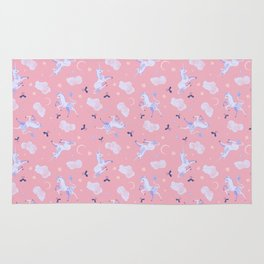 Unicorn Dreams Pink Rug