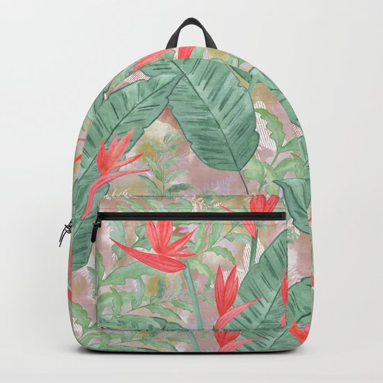 Tropical pattern 3 Backpack