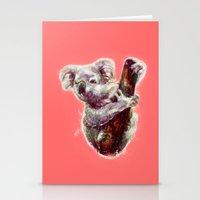 koala Stationery Cards featuring Koala by beart24