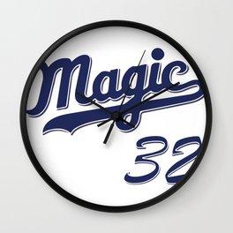 Magic #32 Throwback Jersey Wall Clock