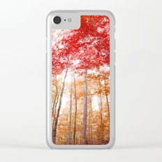 Red and Gold Clear iPhone Case