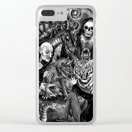 Fear Is The Devil Clear iPhone Case