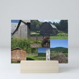 Barns of Summer Collage Mini Art Print