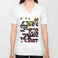 gradient V-neck T-shirts featuring Gradient Space by Jorge Lopez
