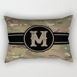 Camouflage Monogram: Letter M Rectangular Pillow