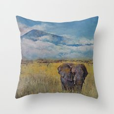 Elephant Savanna Throw Pillow