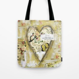 LOVE always protects  Tote Bag