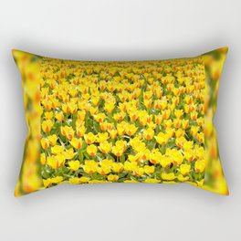 Yellow and red Stresa tulips abloom Rectangular Pillow