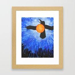 Crow Brings the Daylight Framed Art Print