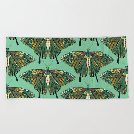 swallowtail butterfly emerald Beach Towel