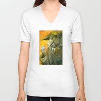 farm V-neck T-shirts featuring Animal Farm by drawgood