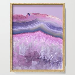 Ultraviolet and Pink Agate Serving Tray