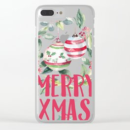 christmas 3 Clear iPhone Case