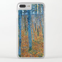 Gustav Klimt - Beech Grove - Buchenhain - Vienna Secession Painting Clear iPhone Case